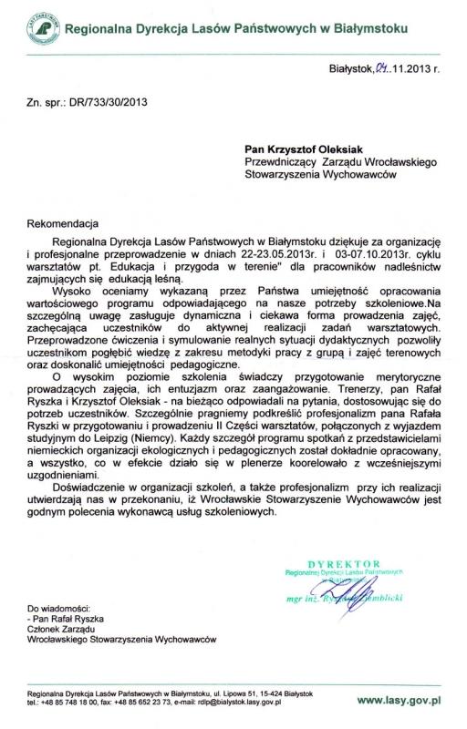 Regionalna Dyrekcja Lasów Państwowych w Białymstoku