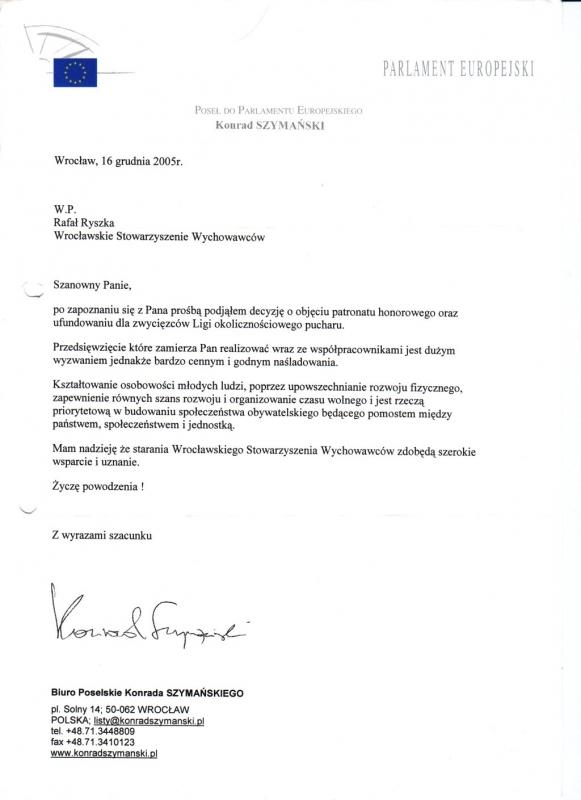 Poseł do Parlamentu Europejskiego Konrad Szymański